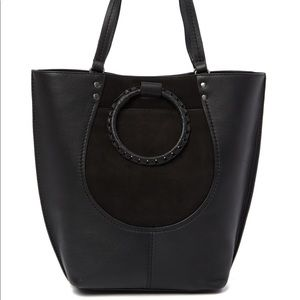 Lucky Brand Leta Leather Suede Tote Bag Purse